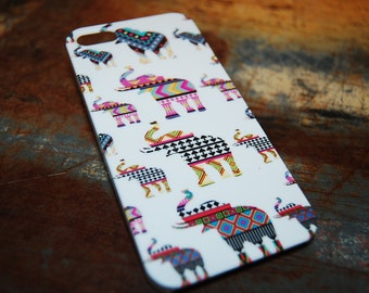 Aztec Overlay Elephant Case For iPhone 6 / (4.7) / 4.7 / 5c / 5s / 5 / 4s / 4 Hard Plastic Africa Indian India Primitive Cell Cover c58