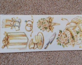 New - for Scrapbooking And Card Making Embellishment Stickers By NRN Designs Wedding