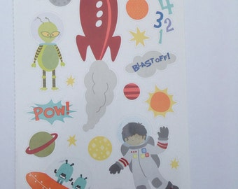 New- for Scrapbooking embellishment sticker similar to Jolees Boutique Outer Space