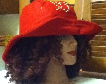 Wide Brim Wool Hat With Studs 2 for 40 and get 1 free