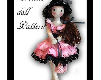 PATTERN Lacy crochet doll pattern