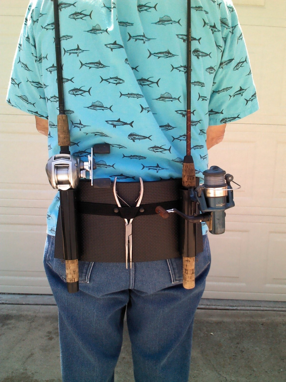 Backpack fishing rod holster holder for Backpacking fishing pole
