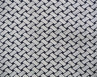 Indigo Ishidatami Vintage Japanese cotton kimono fabric