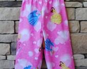 Disney Princess Girls Pants, Cinderella, Sleeping Beauty, Belle, Lounge Pajama Bottoms, Summer PJs, Sizes 0-6mo 12mo 18mo 2t 3t 4t 5t 6 7 8