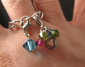 candy ring in Silver with Swarovski Crystals Rosemary Lucy Designs jewelry women