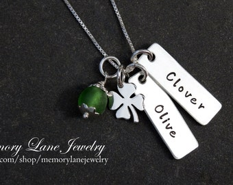Rectangular Charm Necklace