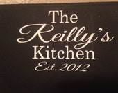 View Chalkboard Personalized by OneChicShoppe on Etsy