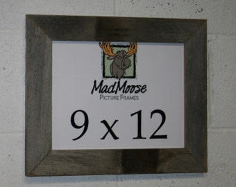 "9x12 Thin x 2"" BarnWood Picture Frame"