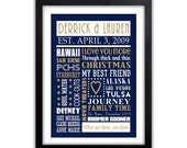 Gift For Him - Husband - Boyfriend For Him or Her - Fully Customized for you - Any Color - Valentines Art Print - Sweet memories Print