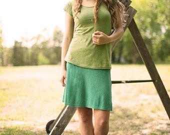 Arrowweed knee-length layering skirt