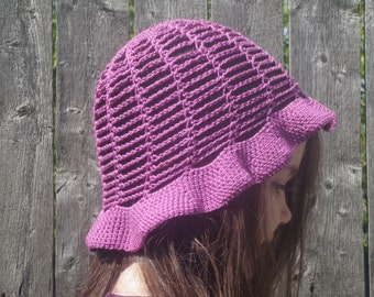 summer bucket hat, beach hat, crochet womens hat free USA shipping!