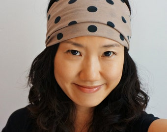 Polka Dots Stretch Headband/ Headwrap/Turband/Yoga, Exercise, Everyday Casual/Adult or Child Size