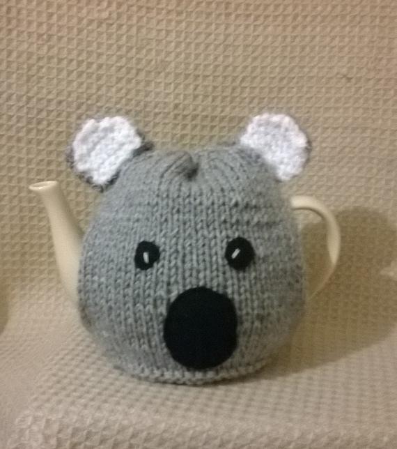 Items similar to Hand Knitted Koala Bear Tea Cosy on Etsy