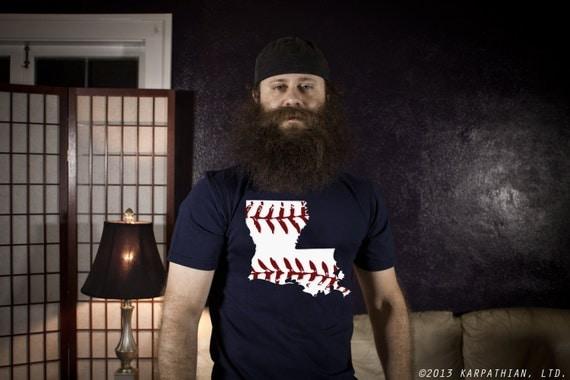 Louisiana baseball mens tshirt