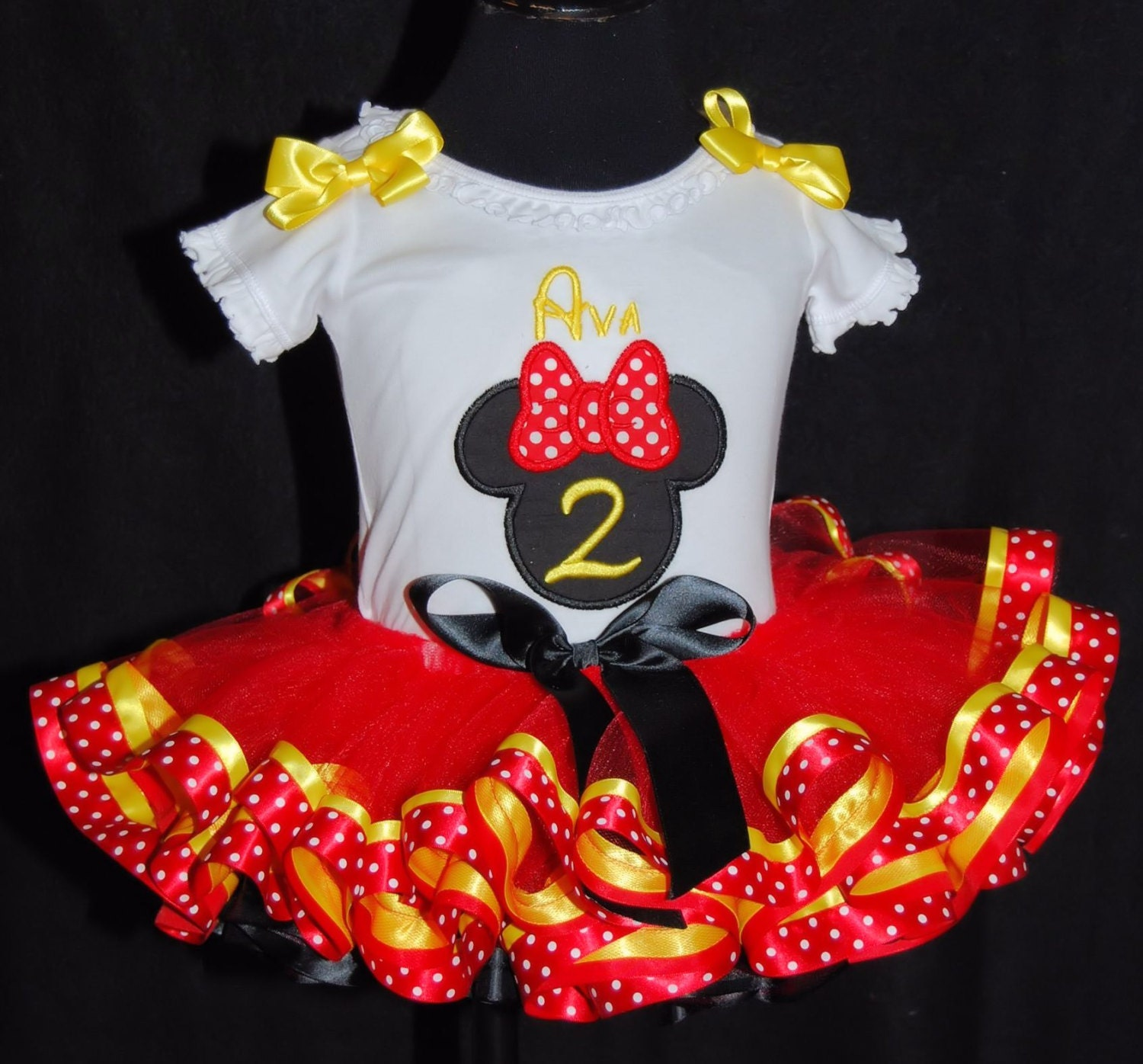 Minnie Mouse 2nd Birthday Tutu Outfit 1st Birthday Outfit