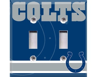 Indianapolis Colts Double Light Switch Cover