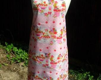 Full Length Pink Ice Cream Sundae Apron. Reversible apron. Item No. LDC0118