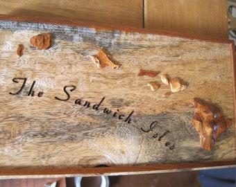 Hawaiian island Chain Art   Made from Koa and Mango wood.