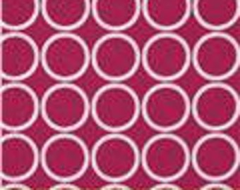 Remnant - 14 Inches Wide x 29 Inches Long - Metro Living Circles in Fuchsia