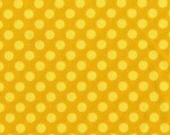 Half Yard - Ta Dot in Mustard by Michael Miller - 1/2 yard