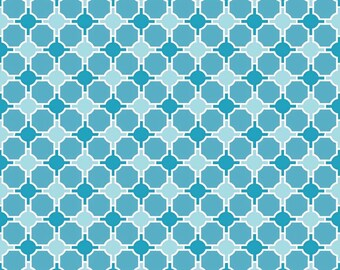 One Yard - Splendor Geometric in Blue by Lila Tueller for Riley Blake - 1 yard