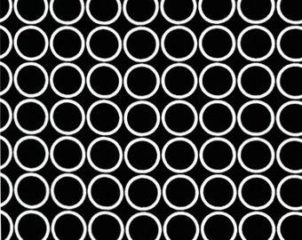 Metro Living Circles in Black - 1 yard