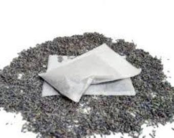Organic LAVENDER SACHET for dryer or bath - - Biodegradable