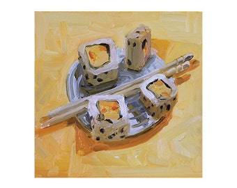 Sushi I 8.5 x 11 print of original oil painting