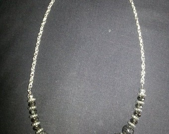 Black Mirror Ball Necklace 3