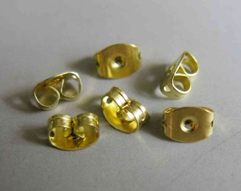 200pcs Raw Brass Earring back stopper Earring Findings  - F140