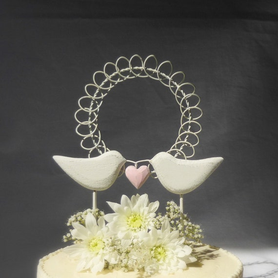 Love Birds Wedding Cake Topper Bird Cake Topper Rustic