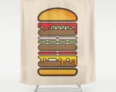 All On A Sesame Seed Bun Shower Curtain