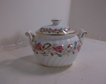 Vintage Foley Sugar Bowl - Harebell Pattern