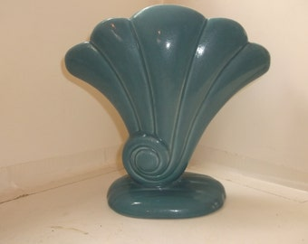 Vintage Red Wing Vase - Blue and Yellow
