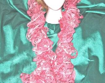 Ruffled Hand Knitted Starbella Yarn Scarf (Hope)