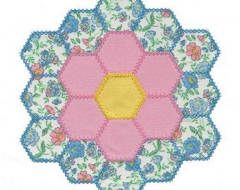 Double Hexagon Quilt Block Appliue