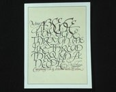 W.S. Merwin Calligraphy Greeting Card by Larry Orlando