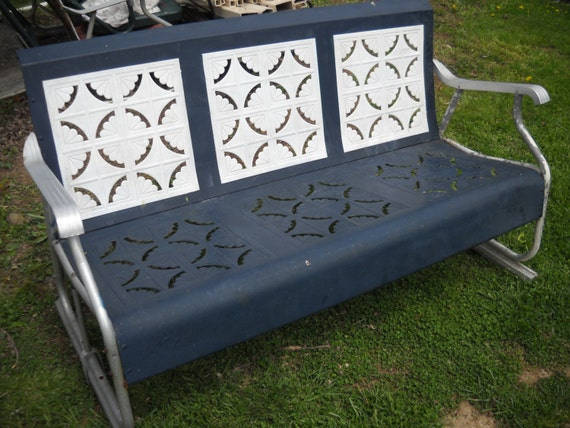Vintage Metal Porch Glider Piecrust