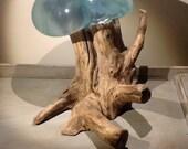 Articles similaires à Bois flotté et Vase en verre recyclé sur Etsy