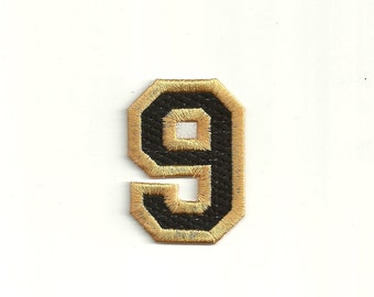 Varsity Number Patch, any color combo, X-Small Custom Made!