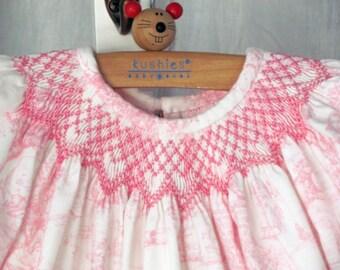 Smocked Baby Girl Bishop Dress 3, 6, 9, 12, 18, 24 months Wedding Portrait Easter Birthday