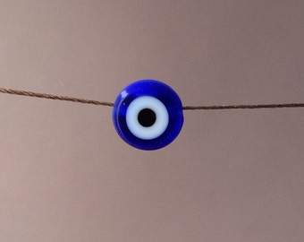 Blue Evil Eye Silk String NECKLACE or BRACELET