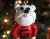 Georgia Bulldog UGA dog ornament