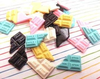 19mm Chocolate Bars Cabochon 6 pcs