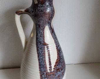 Vintage design studio pottery vase from Israel