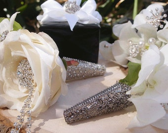 Boutonniere Holder  Pewter  Simply Beautiful