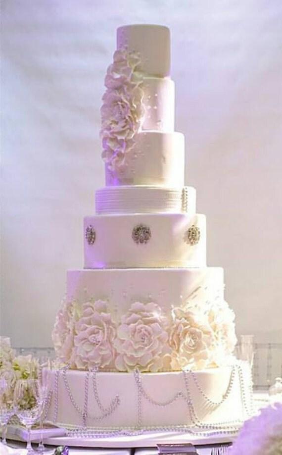 gumpaste flower wedding cake topper