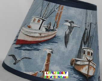 Nautical Sail Boat Vintage Ship Fabric Lamp Shade (10 Sizes to Choose From!)