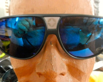 Blue mirror sunglasses by Spaulding from 80s  Men aviators