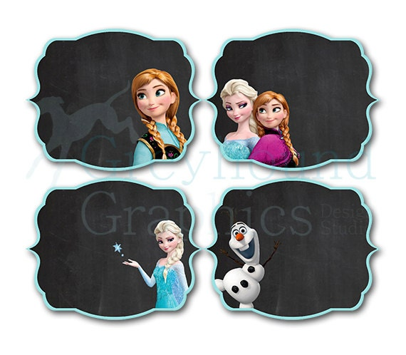 Frozen Birthday Food Label Set Disney's Frozen Disney